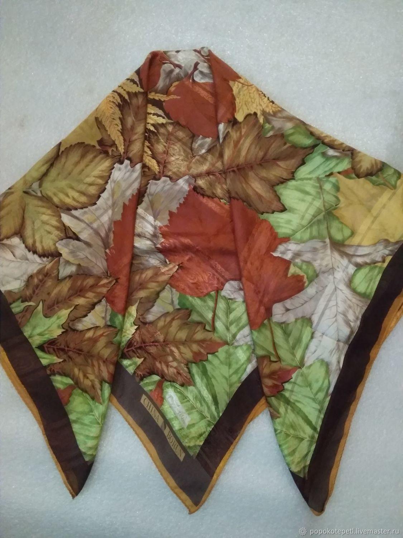 Handkerchief Listopad, silk, vintage China, Vintage accessories, Novorossiysk,  Фото №1