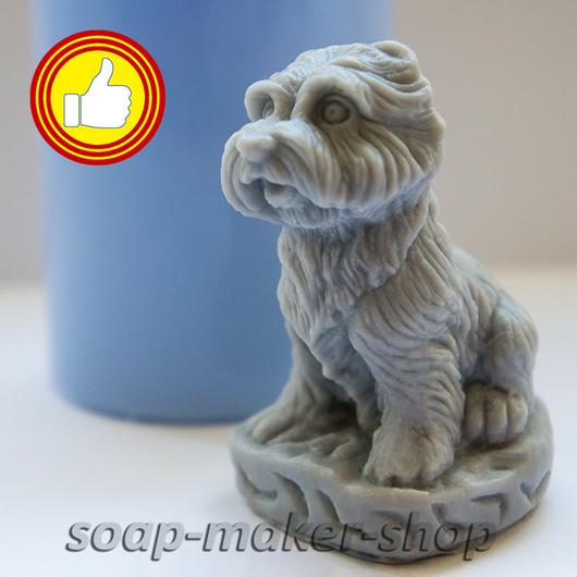 Материалы для косметики ручной работы. Ярмарка Мастеров - ручная работа. Купить Силиконовая форма для мыла «Маленький пес 3D». Handmade.