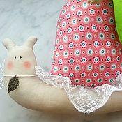 Куклы и игрушки ручной работы. Ярмарка Мастеров - ручная работа Розовая улиточка Тильда. Handmade.