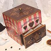 Для дома и интерьера ручной работы. Ярмарка Мастеров - ручная работа Миникомод для кухни Французская кондитерская. Handmade.