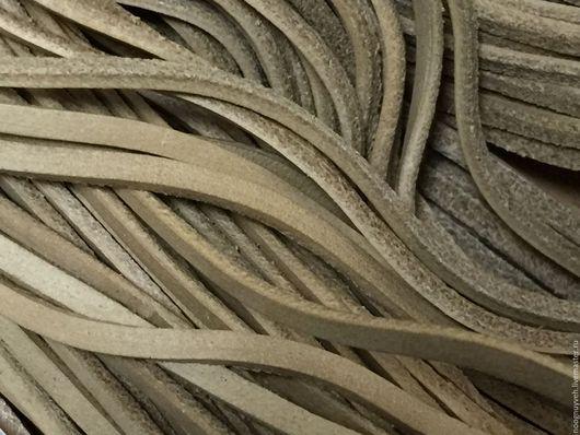 Для украшений ручной работы. Ярмарка Мастеров - ручная работа. Купить Шнур кожаный 2х3 мм ,  бежевый. Handmade. Бежевый