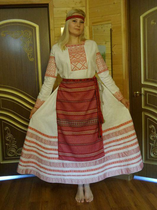 Одежда ручной работы. Ярмарка Мастеров - ручная работа. Купить Свадебное или обядовое платье в славянском стиле.. Handmade. Орнамент