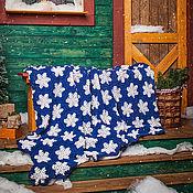 """Для дома и интерьера ручной работы. Ярмарка Мастеров - ручная работа плед """"Снежный"""". Handmade."""