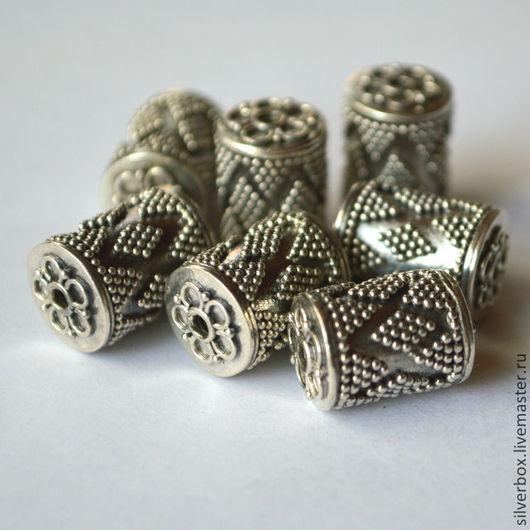 """Бусина Бали """"Ковровая"""" BZ129 Серебро 925 пробы.\r\nДля Украшений Нина(SilverBox)"""