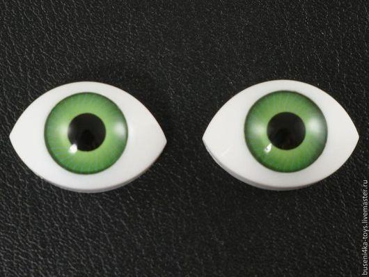 """Куклы и игрушки ручной работы. Ярмарка Мастеров - ручная работа. Купить 18х27мм Глаза кукольные (зеленые) 2шт. """"5614"""". Handmade."""