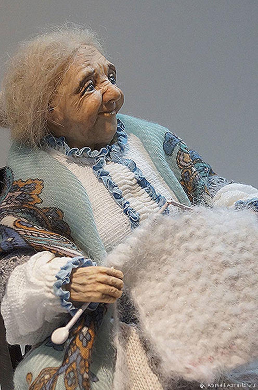 Коллекционные куклы ручной работы. Ярмарка Мастеров - ручная работа. Купить Авторская кукла Бабушка. Handmade. Интерьерная кукла, шерсть