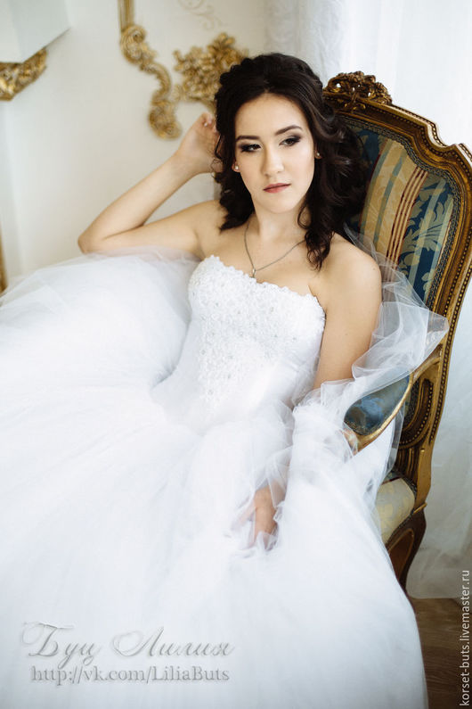 Платья ручной работы. Ярмарка Мастеров - ручная работа. Купить Суперпышное свадебное платье Принцесса. Handmade. Белый, свадьба