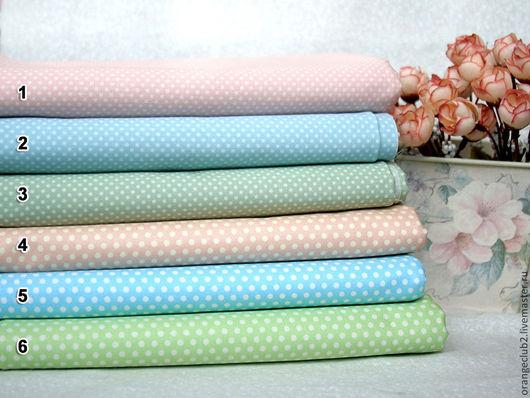 Шитье ручной работы. Ярмарка Мастеров - ручная работа. Купить Корейская ткань горошек. Handmade. Ткань, американские ткани, розовый
