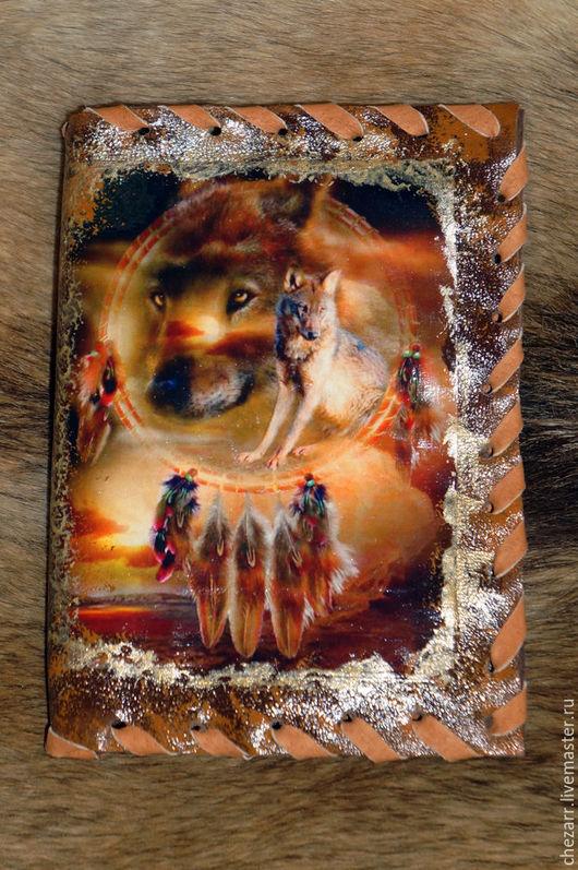 """Обложки ручной работы. Ярмарка Мастеров - ручная работа. Купить Обложка на документы """"Волк"""" 5. Handmade. Паспорт, паспортная обложка"""