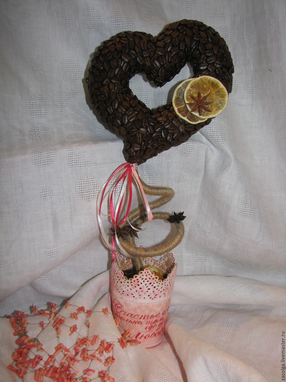 Кофейный топиарий. Сердце, Топиарии, Орел, Фото №1