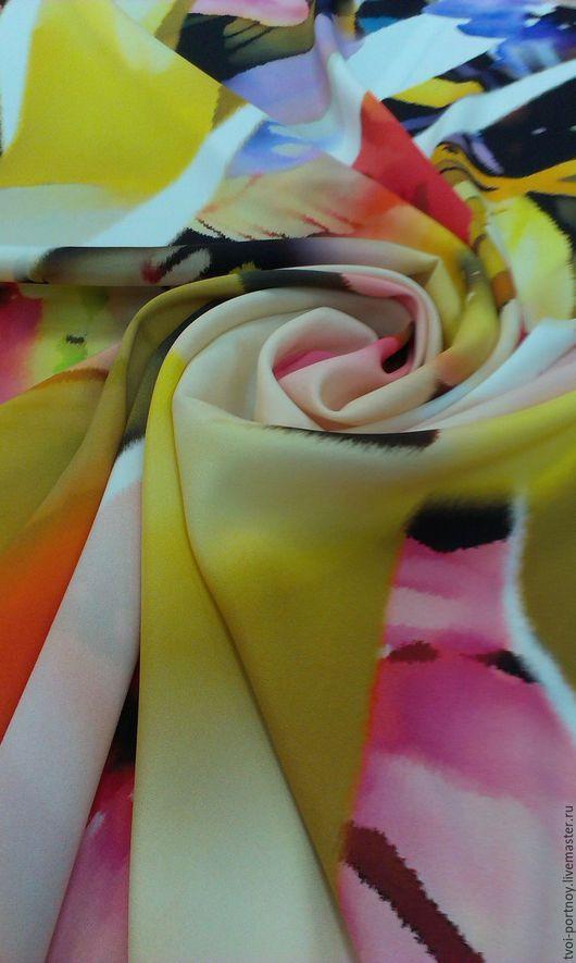 """Шитье ручной работы. Ярмарка Мастеров - ручная работа. Купить Шёлковый креп """" Chanel """". Handmade. Разноцветный"""