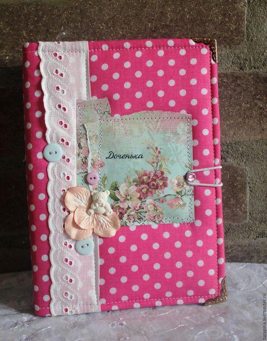 """Блокноты ручной работы. Ярмарка Мастеров - ручная работа. Купить блокнот""""Мамины заметки"""". Handmade. Розовый, брадс, пластиковое украшение"""