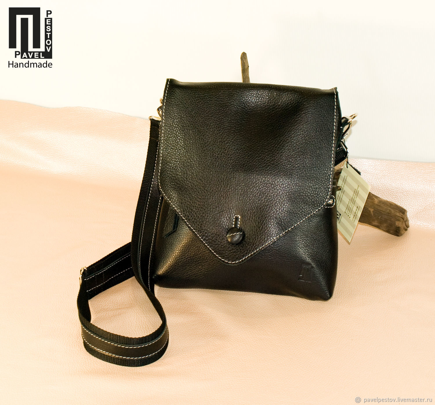 825c97313b02 Buy Men s shoulder bag Black (envelope) Men s Bags handmade. Men s shoulder  bag Black (envelope)-2.