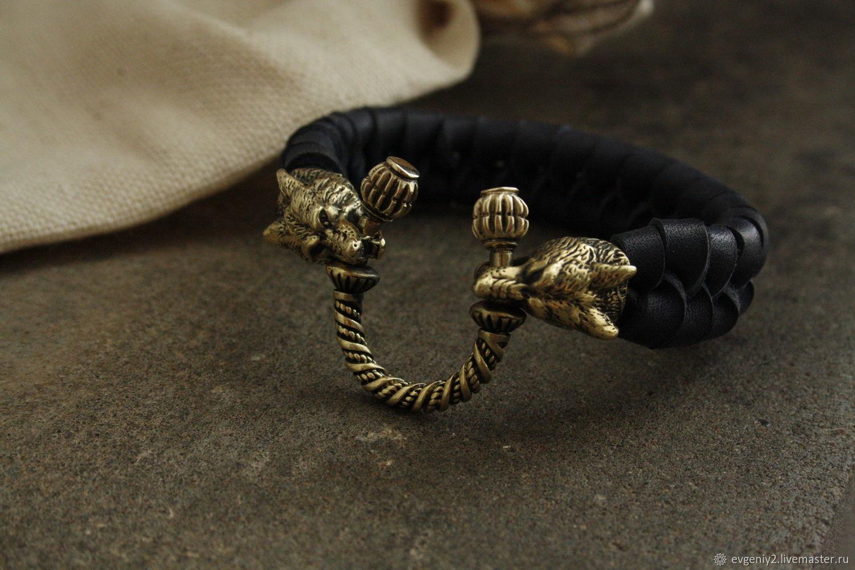 Bracelet from genuine leather ,valcke, Bead bracelet, Volgograd,  Фото №1