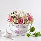Интерьерные композиции ручной работы. Ярмарка Мастеров - ручная работа. Купить Цветы из полимерной глины (хризантема, розы, гортензия). Handmade.