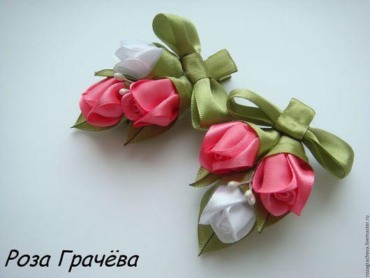 Заколки ручной работы. Ярмарка Мастеров - ручная работа. Купить Заколка для волос, заколка с цветами, заколка с розами. Handmade.