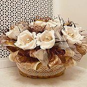 Цветы и флористика ручной работы. Ярмарка Мастеров - ручная работа Букет из конфет   Кофе со сливками. Handmade.