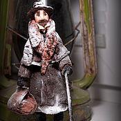 Куклы и игрушки ручной работы. Ярмарка Мастеров - ручная работа Елочная игрушка из ваты.Доктор. Handmade.