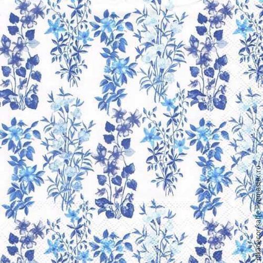 Декупаж и роспись ручной работы. Ярмарка Мастеров - ручная работа. Купить Полевые цветы синие (13309151) 33х33 салфетка для декупажа. Handmade.