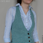 Одежда handmade. Livemaster - original item women`s vest knit button-down