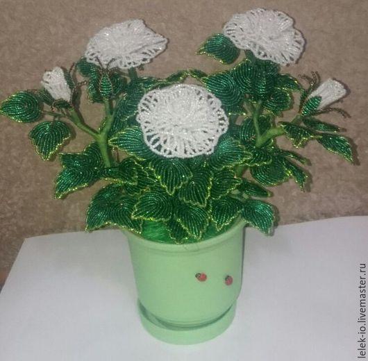 Цветы ручной работы. Ярмарка Мастеров - ручная работа. Купить розы из бисера. Handmade. Ярко-красный, роза, бисер, сувенир