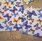 Работы для детей, ручной работы. Ярмарка Мастеров - ручная работа Платья с бабочками Family look. Handmade.
