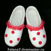 """Обувь ручной работы. Ярмарка Мастеров - ручная работа Тапочки """"С кружевами"""". Handmade."""