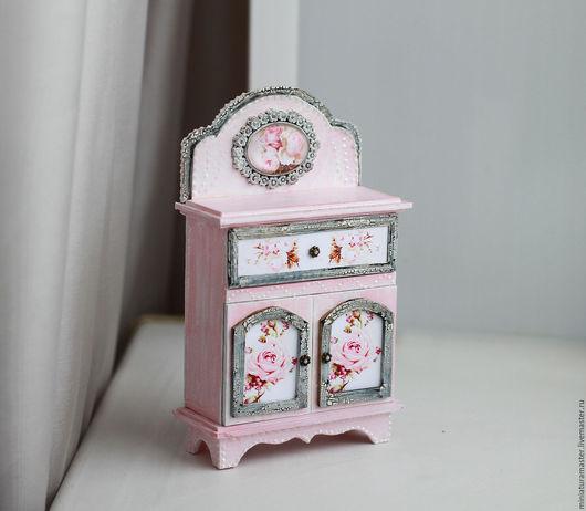 Кукольный дом ручной работы. Ярмарка Мастеров - ручная работа. Купить Миниатюрный шкафчик   1/12. Handmade. Разноцветный