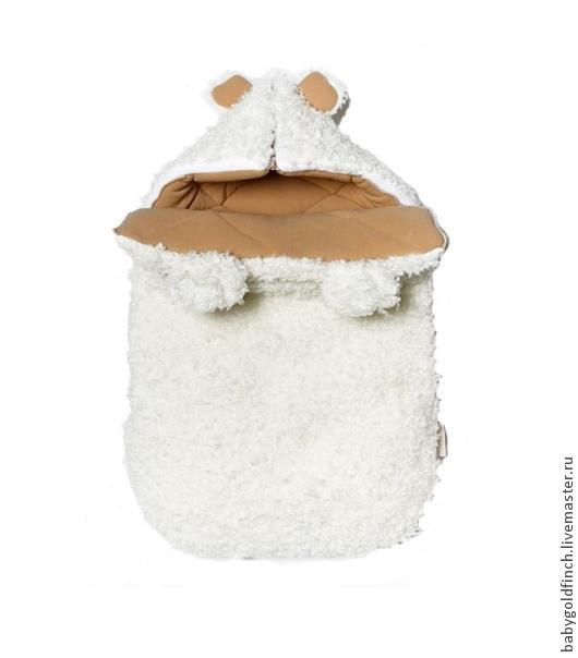 """Зимний конверт для новорожденного на выписку и в коляску мишка """"Умка"""", Для новорожденных, Москва, Фото №1"""