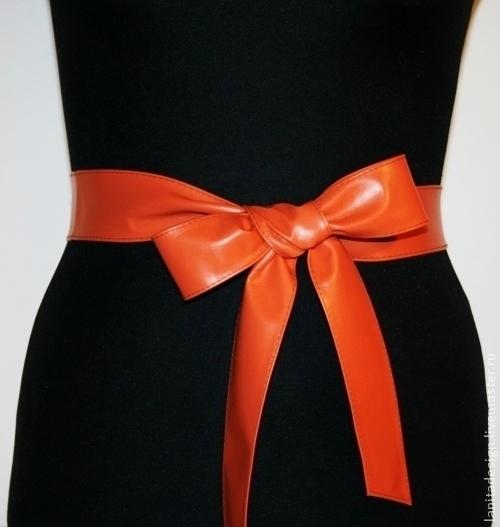 """Пояса, ремни ручной работы. Кожаный пояс """"Mini Orange"""". Lanita Design. Ярмарка Мастеров."""