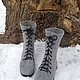 Обувь ручной работы. Ярмарка Мастеров - ручная работа. Купить Войлочные ботинки. Handmade. Серый, подарок