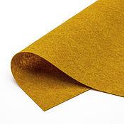Материалы для творчества ручной работы. Ярмарка Мастеров - ручная работа Фетр мягкий корейский полушерстяной 0,7 мм, горчичный меланж. Handmade.