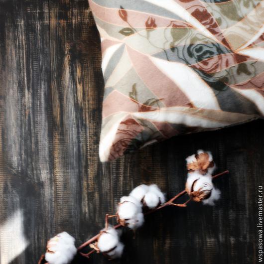Текстиль, ковры ручной работы. Ярмарка Мастеров - ручная работа. Купить Подушка из шерсти Италика. Handmade. Оливковый, подушку купить