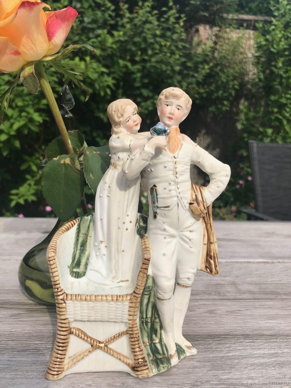 Figure 'Tenderness', porcelain DW, Germany. Rarity!, Vintage interior, Arnhem,  Фото №1