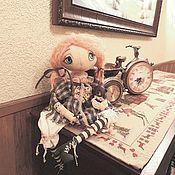 Куклы и игрушки ручной работы. Ярмарка Мастеров - ручная работа Пеппи. Бренд-Тыквоголовая  текстильно -каркасная кукла. Handmade.