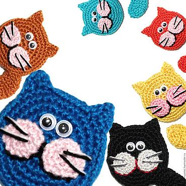 Сувениры и подарки ручной работы. Ярмарка Мастеров - ручная работа Кот игрушка, магнит на холодильник, игрушка кот, котэ, котики, синий. Handmade.