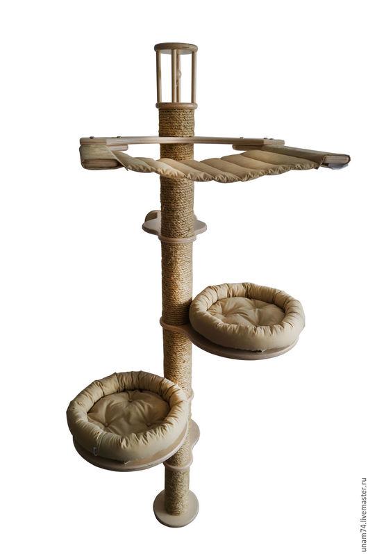 Аксессуары для кошек, ручной работы. Ярмарка Мастеров - ручная работа. Купить Игровой комплекс для кошек КН-6. Handmade.