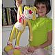 Игрушки животные, ручной работы. Обезьянка Кадли - вязаная мягкая игрушка для сна - 2015 год обезьяны. Вязаные игрушки от Маши Погореловой. Ярмарка Мастеров.