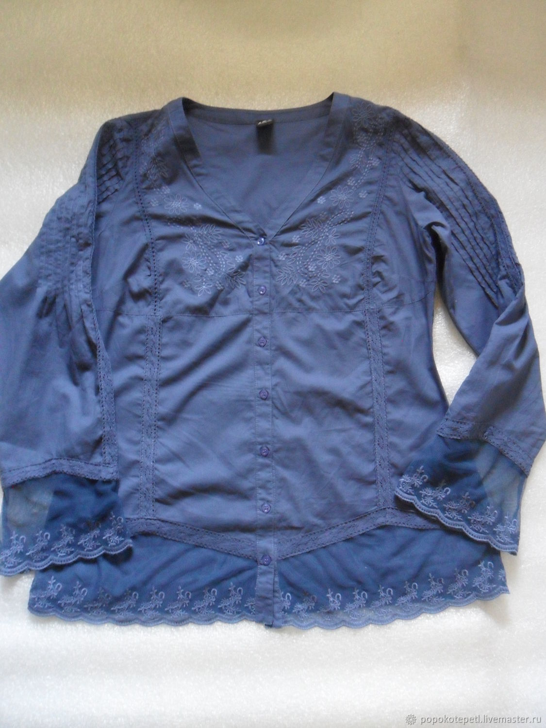 fc6a71e7a579d7 Livemaster - handmade. Buy Vintage shirt,style boho,cotton with lace ...