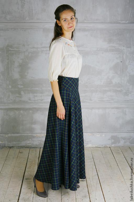 Купить тёплую юбку макси