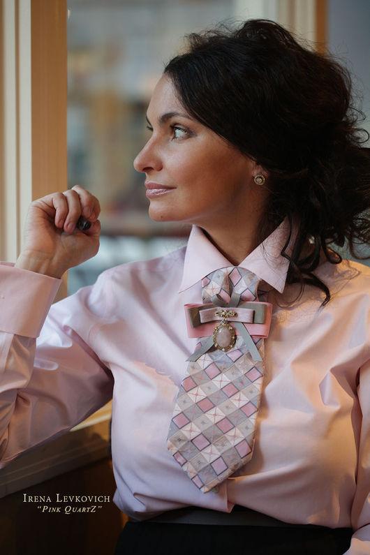 Галстуки, бабочки ручной работы. Ярмарка Мастеров - ручная работа. Купить Женский галстук, блистрон ручной работы из шелка. Handmade.