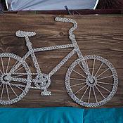 """Картины и панно ручной работы. Ярмарка Мастеров - ручная работа """"Велосипед"""" в технике String Art. Handmade."""