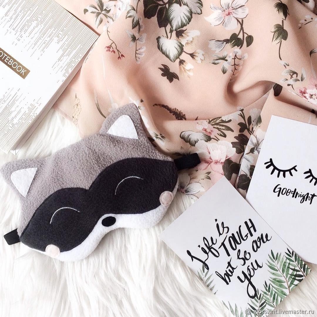 4a535503d68 Buy Sleep mask  a Raccoon  Underwear   Pajamas handmade. Sleep mask  a  Raccoon . glossvint.