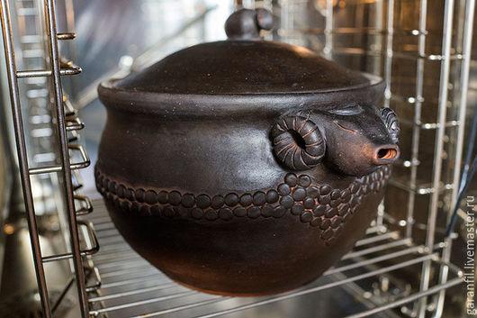 Сервизы, чайные пары ручной работы. Ярмарка Мастеров - ручная работа. Купить Глиняная кастрюля. Handmade. Коричневый, посуда из глины