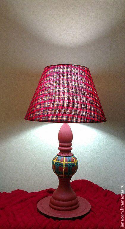 """Освещение ручной работы. Ярмарка Мастеров - ручная работа. Купить светильник """"Шотландская клетка"""". Handmade. Бордовый, клетчатый, кабинет"""
