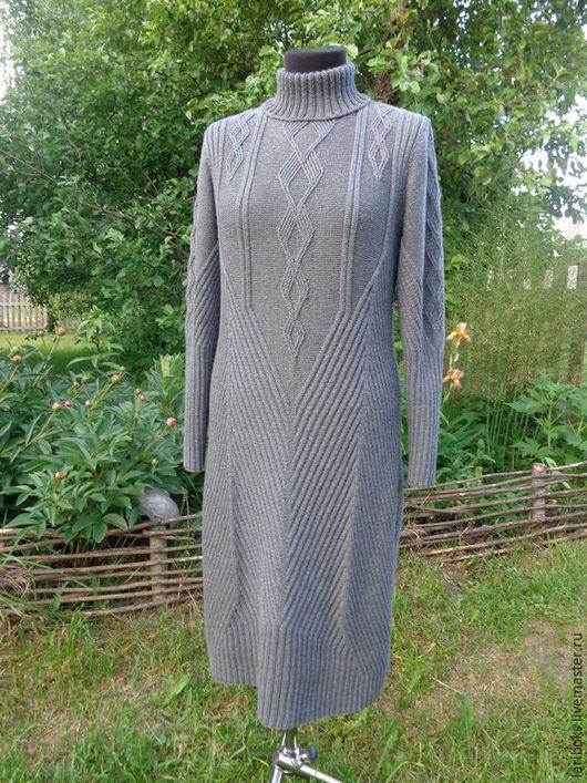 Платья ручной работы. Ярмарка Мастеров - ручная работа. Купить Платье Графит. Handmade. Темно-серый, вязание для женщин