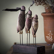 """Для дома и интерьера ручной работы. Ярмарка Мастеров - ручная работа кофейные птицы """"Весенний ветер"""". Handmade."""