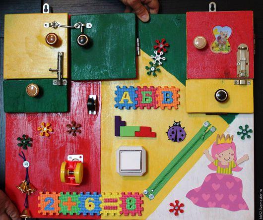 Развивающие игрушки ручной работы. Ярмарка Мастеров - ручная работа. Купить Бизиборд Принцесса. Handmade. Комбинированный, бизиборды