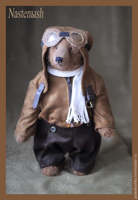 Мишки Тедди ручной работы. Ярмарка Мастеров - ручная работа. Купить Авиатор. Handmade. Коричневый, мохер для мишек Тедди