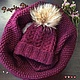 Set of hat and cowl 'Angelica', Headwear Sets, St. Petersburg,  Фото №1